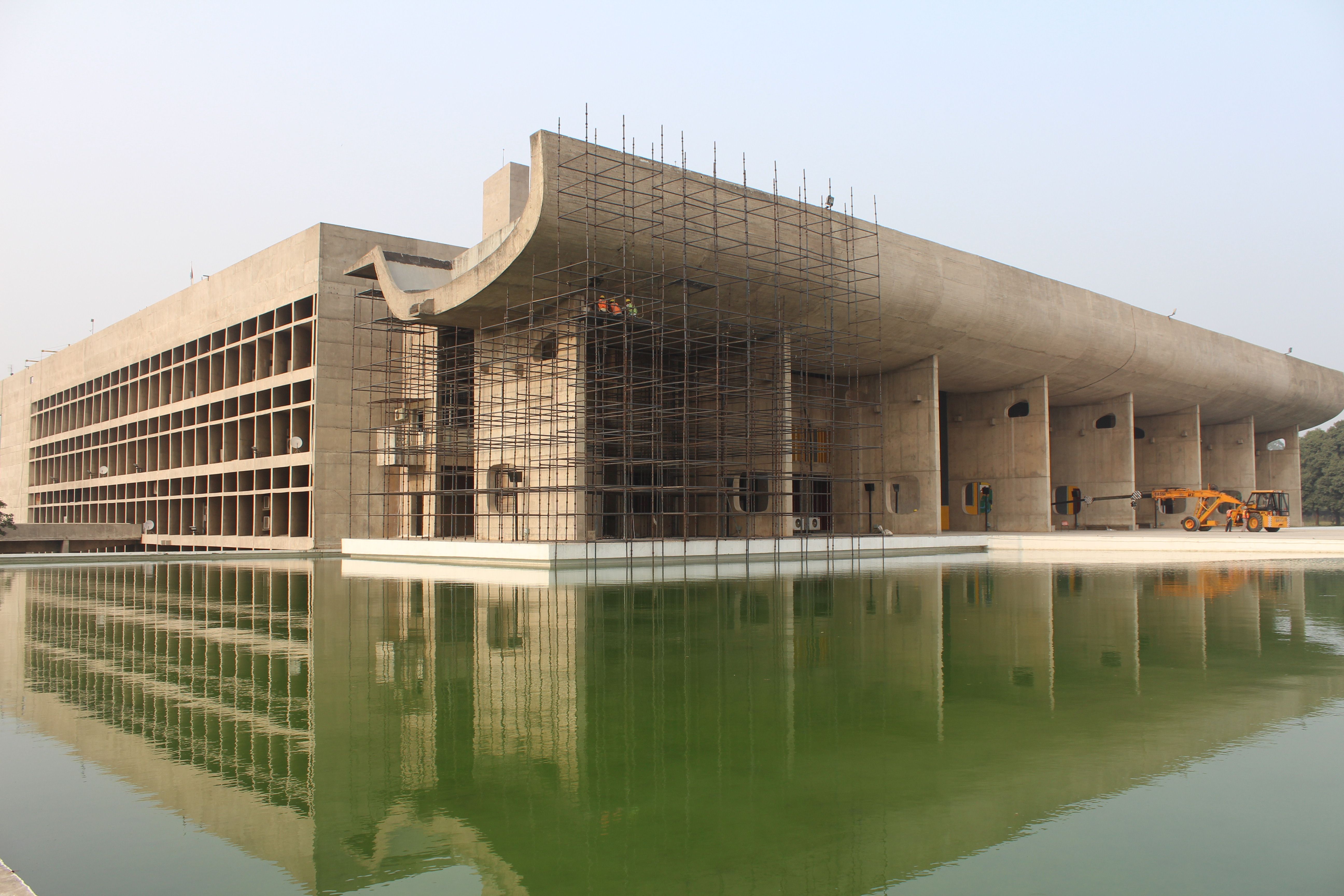 Chandigarh's Capitol Complex consisting of the High Court of Punjab and Haryana, Secretariat and Legislative Assemblies is surrounded by monuments which students of architecture now recognise the world over as among the first nude buildings. The exposed concrete buildings may not be to everyone's taste. But the area north of the Capitol Complex was proposed as a no-construction zone and an open buffer was envisaged upto the Shivalik Hills. Now they are the focus of Supreme Court case, which will decide whether realty developer Tata may develop its 36-storey tower complex, Camelot, en plein vue of the UNESCO-protected complex. https://www.hindustantimes.com/punjab/tata-camelot-housing-project-delhi-hc-order-a-wake-up-call-for-chandigarh-authorities/story-Yyy3yz02B29zjDxHh7CFKJ.html